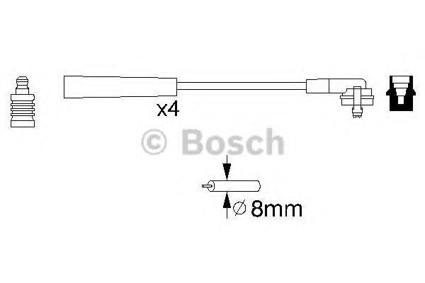 Комплект проводов зажигания BOSCH арт. 0986356700