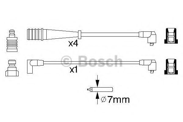 Комплект проводов зажигания BOSCH арт. 0986356704