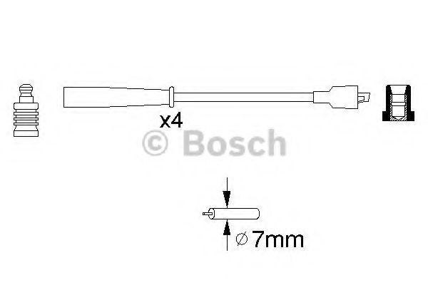 Комплект проводов зажигания BOSCH арт. 0986356716