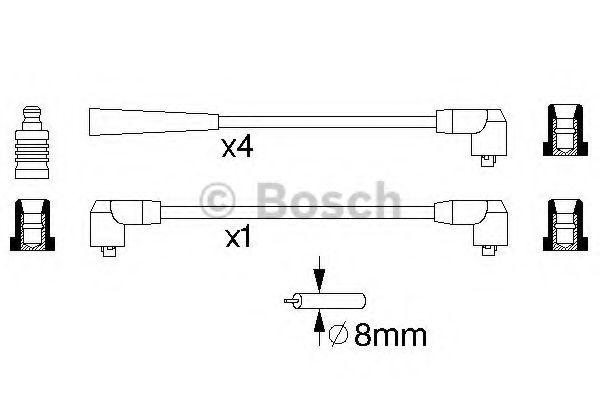 Комплект проводов зажигания BOSCH арт. 0986356726