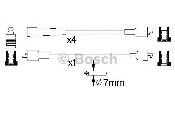 Комплект проводов зажигания BOSCH арт.