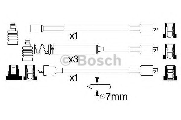 Комплект проводов зажигания BOSCH арт. 0986356800