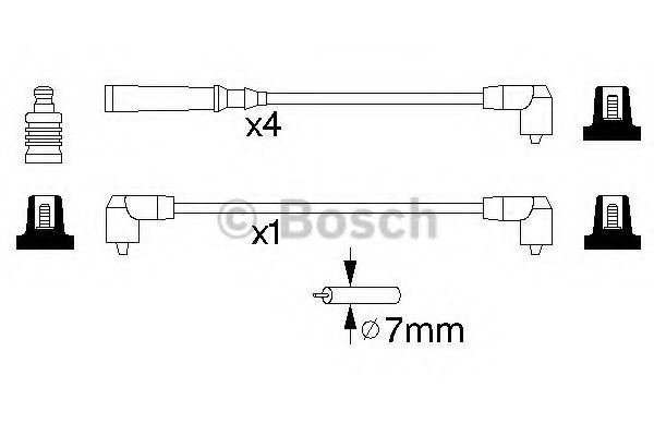 Комплект проводов зажигания BOSCH арт. 0986356847