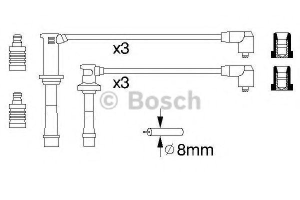 Комплект проводов зажигания BOSCH арт. 0986356966