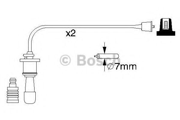 Комплект проводов зажигания BOSCH арт. 0986356991