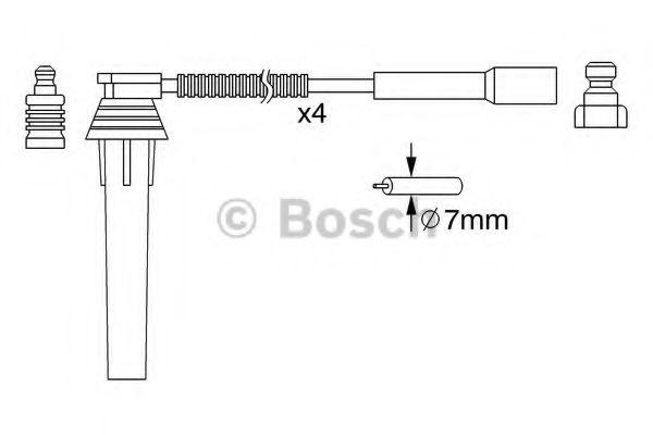 Комплект проводов зажигания BOSCH арт. 0986357052