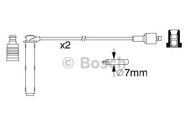 Комплект проводов зажигания BOSCH арт. 0986357154