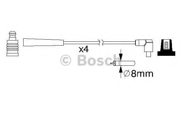 Комплект проводов зажигания BOSCH арт. 0986357221