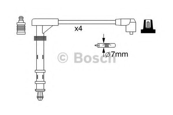 Комплект проводов зажигания BOSCH арт. 0986357261