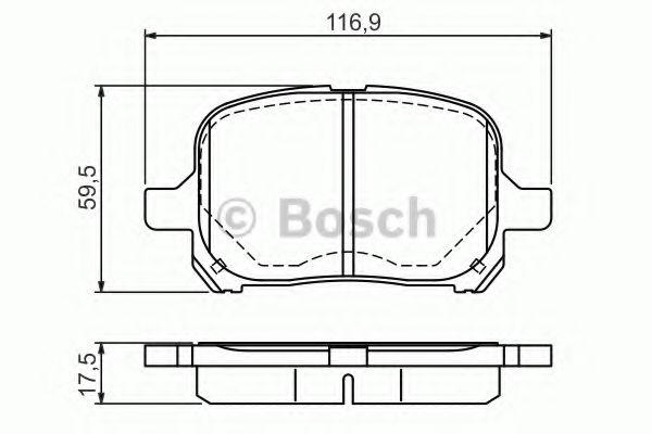 Комплект тормозных колодок, дисковый тормоз BOSCH арт. 0986424639