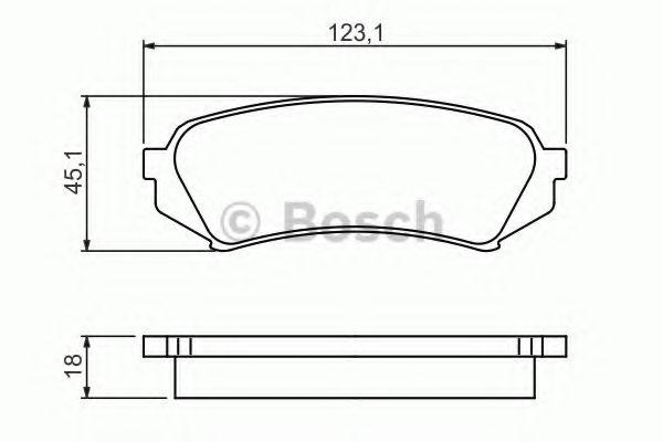 Комплект тормозных колодок, дисковый тормоз BOSCH арт. 0986424641