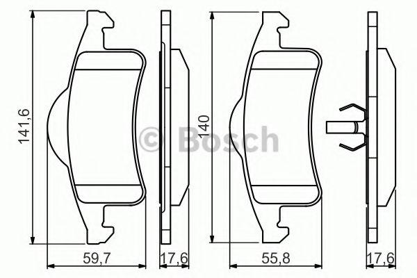 Комплект тормозных колодок, дисковый тормоз BOSCH арт. 0986424665