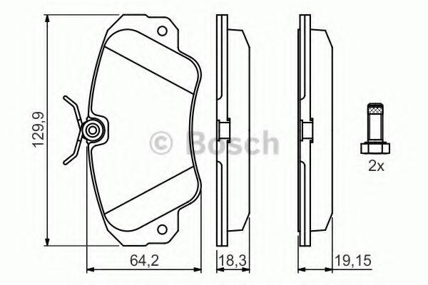 Комплект тормозных колодок, дисковый тормоз BOSCH арт. 0986460939