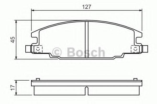 Комплект тормозных колодок, дисковый тормоз BOSCH арт. 0986460960