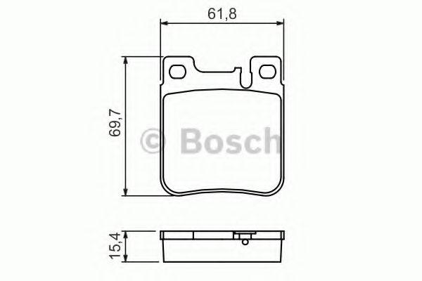 Комплект тормозных колодок, дисковый тормоз BOSCH арт. 0986460965
