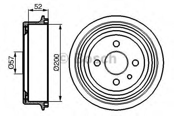Тормозной барабан Bosch - 0 986 477 018