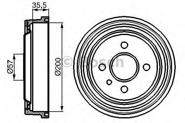 Тормозной барабан Bosch - 0986477021