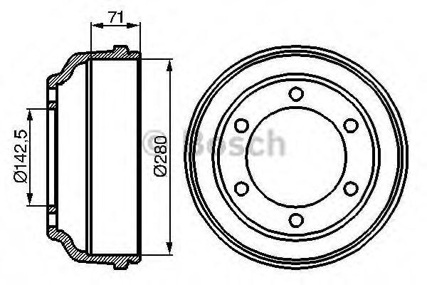 Барабан гальмівний Bosch 0986477047