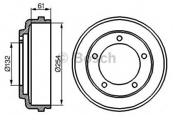 Тормозной барабан Bosch - 0 986 477 048