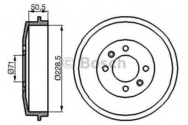 Тормозной барабан Bosch - 0986477060