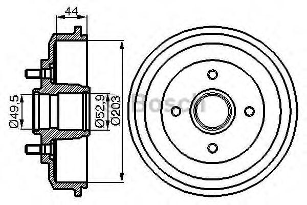 Тормозной барабан Bosch - 0986477102