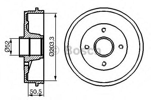 Тормозной барабан Bosch - 0986477120