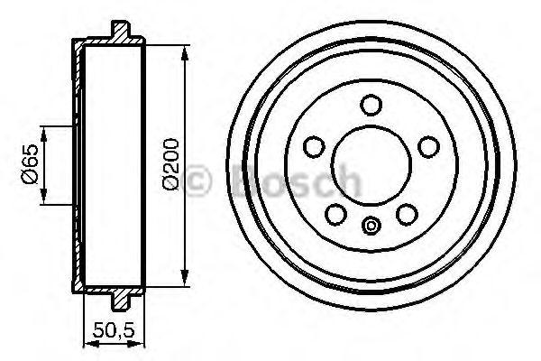 Тормозной барабан Bosch - 0986477133