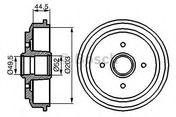 Барабан гальмівний Bosch 0986477149