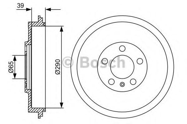 Барабан гальмівний Bosch 0986477152
