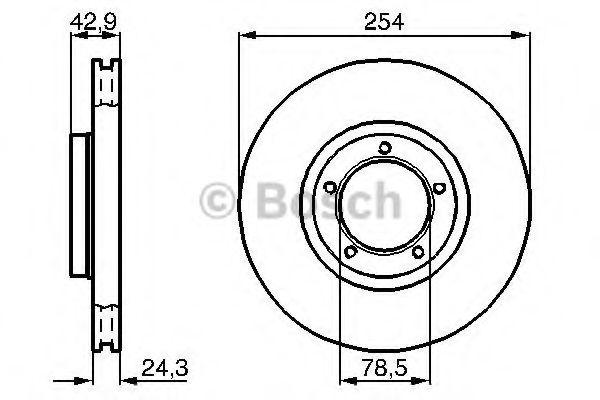 Диск гальмівний Bosch 0986478160