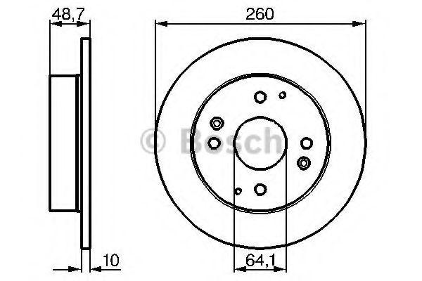 Диск гальмівний Bosch 0986478172