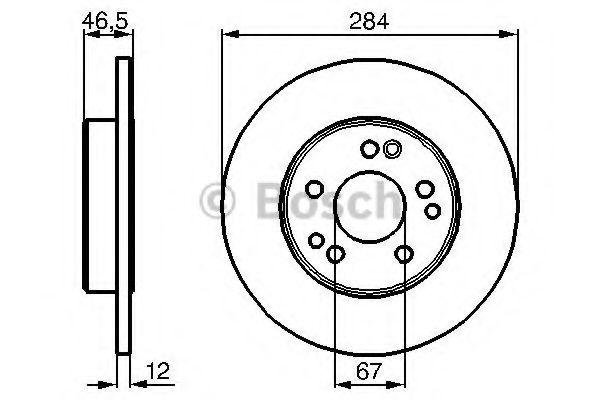Диск гальмівний Bosch 0986478187