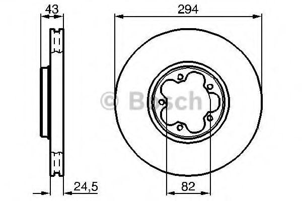 Тормозной диск BOSCH арт. 0986478303