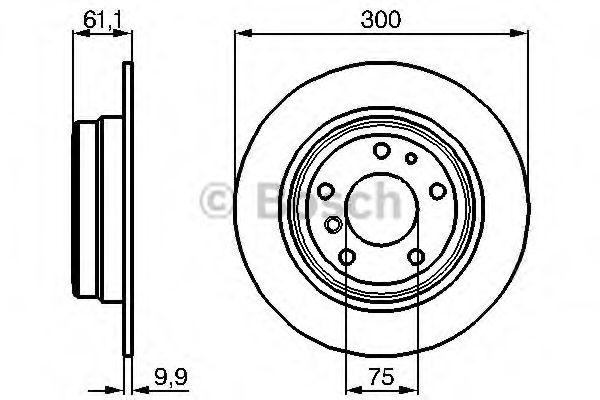 Диск гальмівний Bosch 0986478321