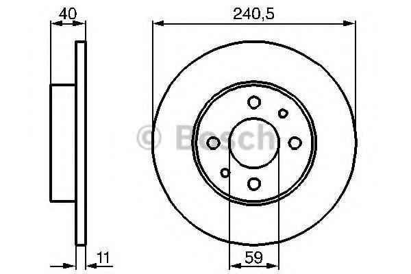Тормозной диск BOSCH арт. 0986478342