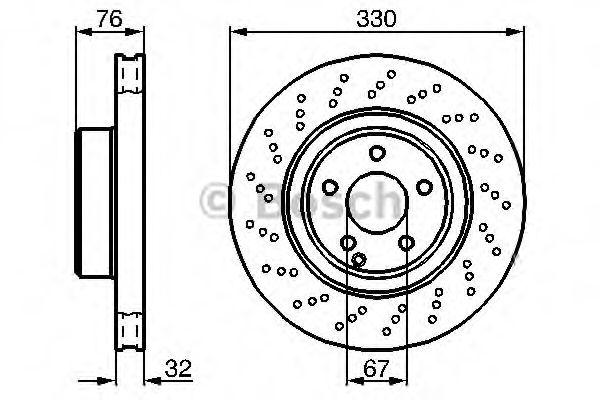Диск гальмівний Bosch 0986478470