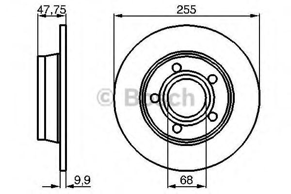 Диск гальмівний Bosch 0986478480