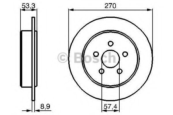 Диск гальмівний Bosch 0986478514