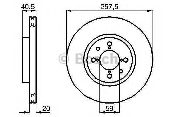 Диск гальмівний Bosch 0986478515