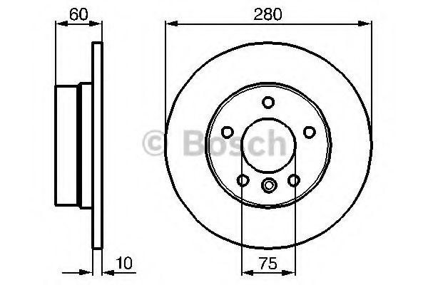 Тормозной диск BOSCH арт. 0986478561