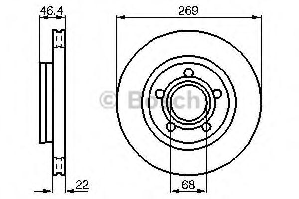 Диск гальмівний Bosch 0986478574