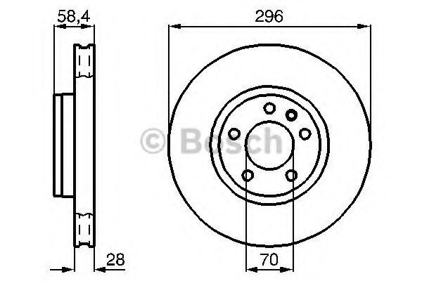Диск гальмівний Bosch 0986478593