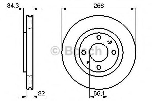 Диск гальмівний Bosch 0986478618