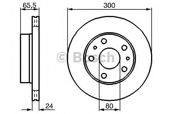 Тормозной диск BOSCH арт. 0986478842