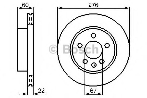 Диск гальмівний Bosch 0986478861