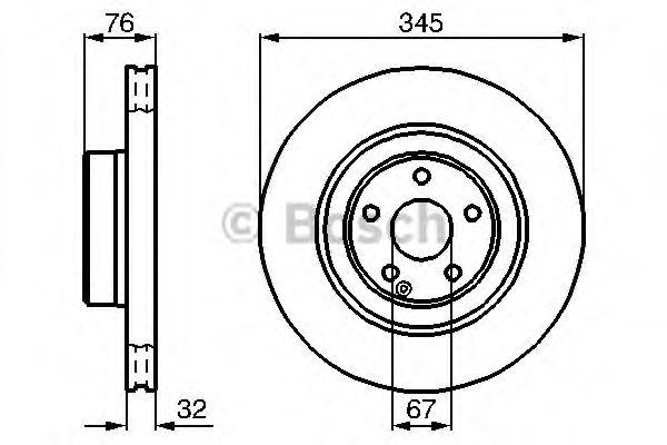 Диск гальмівний Bosch 0986478964