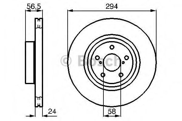 Диск гальмівний Bosch 0986478977