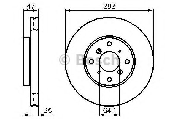 Тормозной диск BOSCH арт. 0986478982