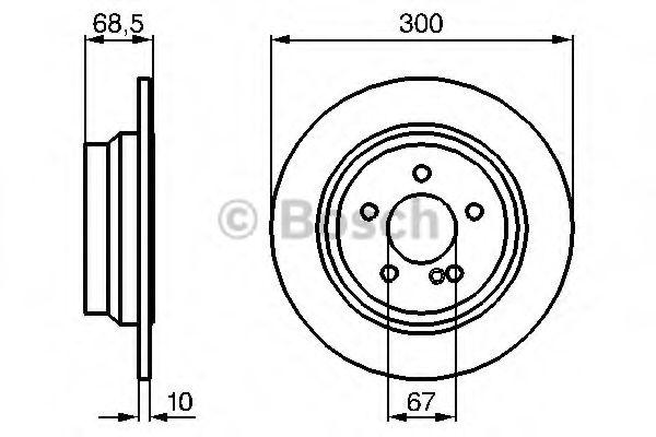 Тормозной диск BOSCH арт. 0986479041