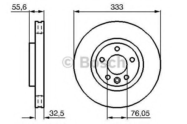Диск гальмівний Bosch 0986479096